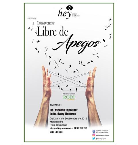 """""""Libre de apegos"""" con Ozary Lluberes y Vicente Tapounet"""