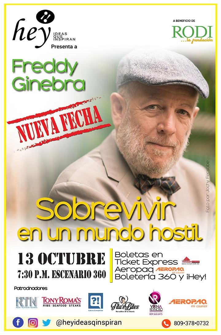 """Sobrevivir en un mundo hostil"" con Freddy Ginebra"